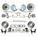 DBK64721012  - 1964-1972 GM A Body (Chevelle, GTO, Cutlass) Stock Height Front & Rear Disc Brake Kit