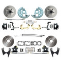 DBK64721012-B  - 1964-1972 GM A Body (Chevelle, GTO, Cutlass) Stock Height Front & Rear Disc Brake Kit Black Calipers
