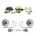 "DBK6568-GMFS3-205  - 1965-1968 GM Full Size Front Disc Brake Kit (Impala, Bel Air, Biscayne) & 8"" Dual Zinc Booster Conversion Kit w/ Cast Iron Master Cylinder Left Mount Disc/ Drum Proportioning Valve Kit"