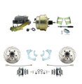 "DBK6568LX-GMFS3-205  - 1965-1968 GM Full Size Disc Brake Kit Drilled/Slotted Rotors (Impala, Bel Air, Biscayne) & 8"" Dual Zinc Booster Conversion Kit w/ Cast Iron Master Cylinder Left Mount Disc/ Drum Proportioning Valve Kit"
