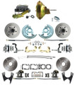 "DBK67691012S-GM-219  - 1967-1969 Camaro/ Firebird & 1968-1974 Chevy Nova Front & Rear Power Disc Brake Conversion Kit Standard Rotors w/ 11"" Delco Stamped Booster Kit"