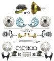 "DBK67691012SLX-GM-219  - 1967-1969 Camaro/ Firebird & 1968-1974 Chevy Nova Front & Rear Power Disc Brake Conversion Kit Drilled & Slotted Rotors w/ 11"" Delco Stamped Booster Kit"