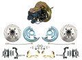 DBK6769LX-BCK5005  - 1967-1969 F Body 1968-1974 X Body Front Power Disc Brake Conversion Kit Drilled & Slotted Rotors w/ O.E.M. Booster Kit
