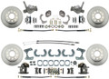 DBK74789  - 1974-78 Mustang II Stock Height Front & Rear Standard Disc Brake Kit