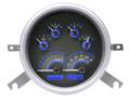 Dakota Digital 1949-50 Chevy Car Gauges - Carbon Fiber Face - Blue Display