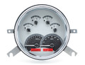 Dakota Digital 1949-50 Chevy Car Gauges - Silver Alloy Face - Red Display
