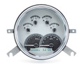 Dakota Digital 1949-50 Chevy Car Gauges - Silver Alloy Face - White Display
