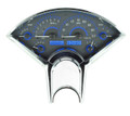 Dakota Digital 1955-56 Chevy VHX  Gauges - Carbon Fiber Face - Blue Display