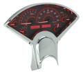 Dakota Digital 1955-56 Chevy VHX  Gauges - Carbon Fiber Face - Red Display