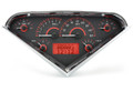 Dakota Digital 1955-1959 Chevy Pickup VHX Gauges - Carbon Fiber Face - Red Display