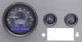 Dakota Digital 1955-86 Jeep CJ VHX Gauges - Carbon Fiber Face - Blue Display