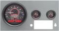 Dakota Digital 1955-86 Jeep CJ VHX Gauges - Carbon Fiber Face - Red Display