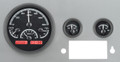 Dakota Digital 1955-86 Jeep CJ VHX Gauges - Black Alloy Face - Red Display