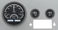 Dakota Digital 1955-86 Jeep CJ VHX Gauges - Black Alloy Face - White Display