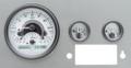 Dakota Digital 1955-86 Jeep CJ VHX Gauges - Silver Alloy Face - White Display
