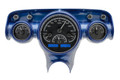 Dakota Digital 1957 Chevy VHX Gauges - Black Alloy Face - Blue Display