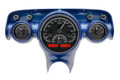 Dakota Digital 1957 Chevy VHX Gauges - Black Alloy Face - Red Display