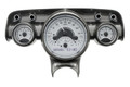 Dakota Digital 1957 Chevy VHX Gauges - Silver Alloy Face - White Display