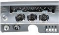 Dakota Digital 1961-62 Impala VHX Gauges - Black Alloy Face - White Display