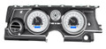 Dakota Digital 1963-65 Buick Riviera HDX Gauges - Silver Alloy Face - Blue Display