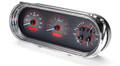 Dakota Digital 1963-65 Chevy Nova VHX Gauges - Carbon Fiber Face - Red Display
