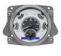 Dakota Digital 1966-77 Ford Bronco VHX Gauges - Silver Alloy Face - Blue Display