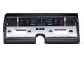 Dakota Digital 1966-69 Lincoln Continental VHX Gauges - Black Alloy Face - Blue Display
