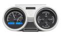 Dakota Digital 1966-67 Oldsmobile Cutlass VHX Gauges - Black Alloy Face - Blue Display