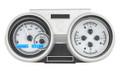 Dakota Digital 1966-67 Oldsmobile Cutlass VHX Gauges - Silver Alloy Face - Blue Display