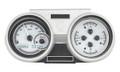 Dakota Digital 1966-67 Oldsmobile Cutlass VHX Gauges - Silver Alloy Face - White Display
