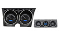 Dakota Digital 1967 Camaro with Console Gauges VHX - Black Alloy Face - Blue Display