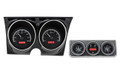 Dakota Digital 1967 Camaro with Console Gauges VHX - Black Alloy Face - Red Display