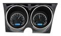 Dakota Digital 1967-68 Camaro Firebird VHX Gauges - Black Alloy Face - Blue Display