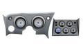 Dakota Digital 1968-77 Chevy Corvette VHX Gauges with Digital Clock - Silver Alloy Face - Blue Display