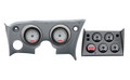 Dakota Digital 1968-77 Chevy Corvette VHX Gauges with Digital Clock - Silver Alloy Face - White Display