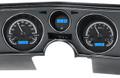 Dakota Digital 1969 Chevy Chevelle / El Camino VHX Gauges with Digital Clock - Black Alloy Face - Blue Display