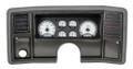 Dakota Digital 1978-88 Monte Carlo/El Camino/Malibu/Caballero VHX Gauges - Silver Alloy Face - White Display