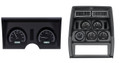 Dakota Digital 1978-82 Chevy Corvette VHX Gauges with Analog Clock - Black Alloy Face - White Display