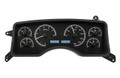 Dakota Digital 1990-93 Ford Mustang VHX Gauges - Black Alloy Face - White Display