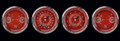 V8 Red Steelie Series Four Gauge Set - Classic Instruments - V8RS05SHC