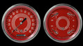 V8 Red Steelie Series Two Gauge Set - Classic Instruments - V8RS52SLC