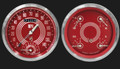 V8 Red Steelie Series Two Gauge Set - Classic Instruments - V8RS62SLC