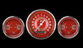 V8 Red Steelie Series Three Gauge Set - Classic Instruments - V8RS64SLC