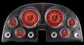 V8 Red Steelie 1963-67 Corvette Gauges - Classic Instruments - CO63V8RS