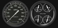 Auto Cross Grey 1947-53 GM Pick-Up  Gauges - Classic Instruments - CT47AXG52