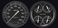 Auto Cross Grey 1954-55 Chevy PU Gauges - Classic Instruments - CT54AXG52