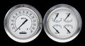 Classic White 1954-55 Chevy PU Gauges - Classic Instruments - CT54CW52