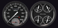 AutoCross Grey 54-55 Chevy PU Gauges w/Speedtachular - Classic Instruments - CT54AXG62