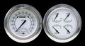 Classic White 54-55 Chevy PU Gauges w/Speedtachular - Classic Instruments - CT54CW62