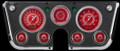 V8 Red Steelie 1967-72 Chevy Gauges - Classic Instruments - CT67V8RS